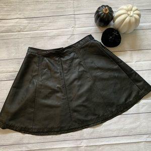 Halogen leather mini skirt